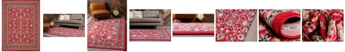 "Bridgeport Home Arnav Arn1 Red 9' 10"" x 13' Area Rug"