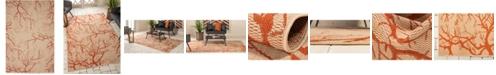 Bridgeport Home Pashio Pas6 Beige/Terracotta 6' x 9' Area Rug