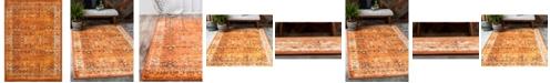 "Bridgeport Home Linport Lin1 Terracotta/Ivory 8' x 11' 6"" Area Rug"