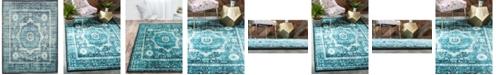 Bridgeport Home Linport Lin7 Turquoise 7' x 10' Area Rug