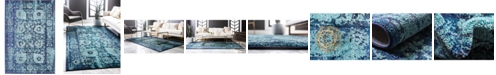 Bridgeport Home Sana San4 Turquoise 4' x 6' Area Rug