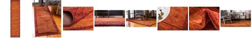"Bridgeport Home Jasia Jas11 Terracotta 2' 6"" x 10' Runner Area Rug"