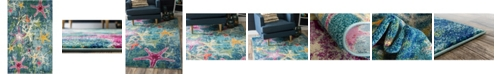 Bridgeport Home Ikbal Ikb1 Navy Blue 5' x 8' Area Rug