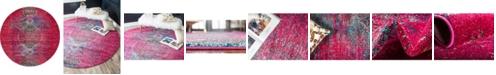 Bridgeport Home Brio Bri6 Pink 8' x 8' Round Area Rug