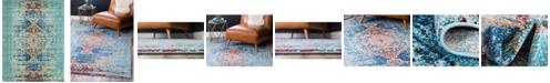 Bridgeport Home Brio Bri6 Turquoise 8' x 10' Area Rug