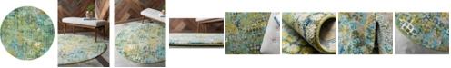 Bridgeport Home Crisanta Crs4 Green 8' x 8' Round Area Rug