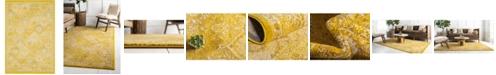 "Bridgeport Home Lorem Lor2 Yellow 5' 3"" x 7' 7"" Area Rug"