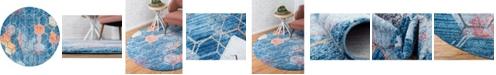Bridgeport Home Prizem Shag Prz1 Blue 6' x 6' Round Area Rug