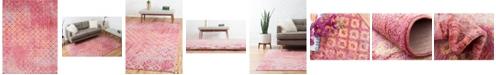 Bridgeport Home Prizem Shag Prz2 Pink 10' x 13' Area Rug
