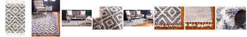 "Bridgeport Home Lochcort Shag Loc2 Gray 2' 2"" x 3' Area Rug"