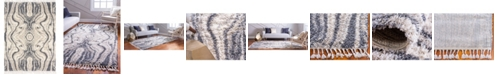 Bridgeport Home Lochcort Shag Loc4 Gray 9' x 12' Area Rug