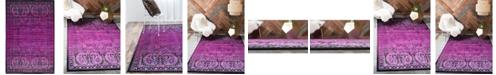 Bridgeport Home Linport Lin6 Lilac 4' x 6' Area Rug
