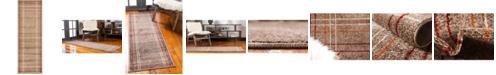 Bridgeport Home Jasia Jas13 Light Brown 2' x 6' Runner Area Rug