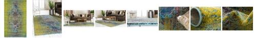 Bridgeport Home Brio Bri6 Green 5' x 8' Area Rug