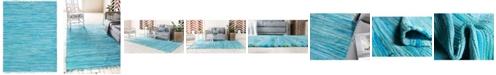 Bridgeport Home Jari Striped Jar1 Turquoise 8' x 10' Area Rug