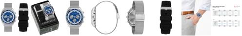 Caravelle Men's Chronograph Stainless Steel Mesh Bracelet Watch 40mm Box Set