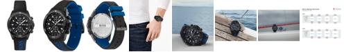 BOSS Men's Chronograph Vela Black Silicone Strap Watch 44mm