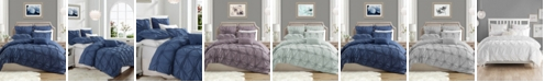 Cathay Home Inc. Charming Ruched Rosette Duvet Cover Set - Twin/Twin XL