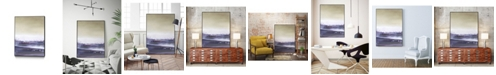 "Giant Art 32"" x 24"" Amethyst Sea II Art Block Framed Canvas"