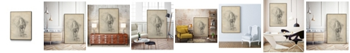 "Giant Art 40"" x 30"" Antique Ballerina Study I Art Block Framed Canvas"