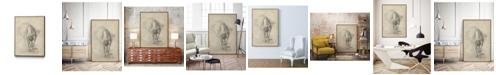 "Giant Art 20"" x 16"" Antique Ballerina Study I Art Block Framed Canvas"