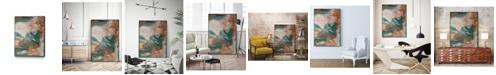 "Giant Art 32"" x 24"" Coralline II Art Block Framed Canvas"