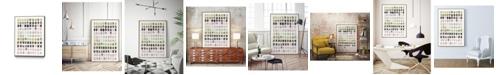 "Giant Art 36"" x 24"" Serene Color Swatches I Art Block Framed Canvas"