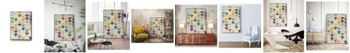 "Giant Art 28"" x 22"" Confetti Prism IX Art Block Framed Canvas"