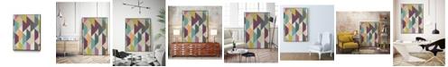 "Giant Art 24"" x 18"" Confetti Prism V Art Block Framed Canvas"
