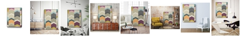 "Giant Art 40"" x 30"" Confetti Prism I Art Block Framed Canvas"