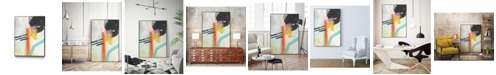 "Giant Art 20"" x 16"" Rhythm Variations I Art Block Framed Canvas"