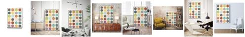 "Giant Art 32"" x 24"" Pattern Interaction IV Art Block Framed Canvas"