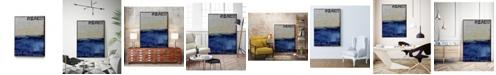 "Giant Art 28"" x 22"" Beach 45 II Art Block Framed Canvas"