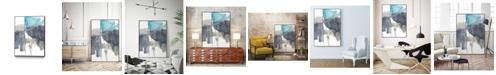 """Giant Art 32"""" x 24"""" Kinetic Grid VI Art Block Framed Canvas"""