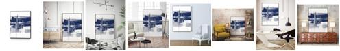 "Giant Art 20"" x 16"" Alternating Current III Art Block Framed Canvas"