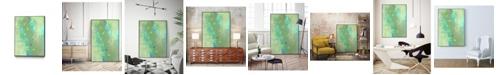 "Giant Art 14"" x 11"" Islander I Art Block Framed Canvas"