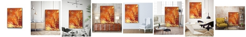 "Giant Art 14"" x 11"" Nomadic Blaze III Art Block Framed Canvas"
