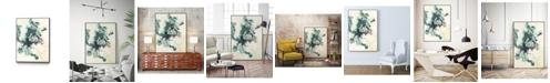 """Giant Art 14"""" x 11"""" Teal Tributary I Art Block Framed Canvas"""
