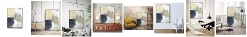 "Giant Art 24"" x 18"" Neutral Divide I Art Block Framed Canvas"