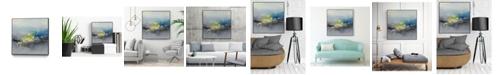 "Giant Art 30"" x 30"" Oriental Spring I Art Block Framed Canvas"