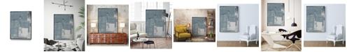 """Giant Art 28"""" x 22"""" Ship Shape V Art Block Framed Canvas"""