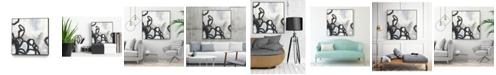 """Giant Art 20"""" x 20"""" Causal Gesture II Art Block Framed Canvas"""
