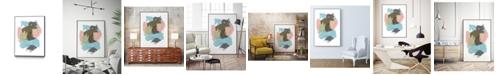 "Giant Art 40"" x 30"" Paint Web II Art Block Framed Canvas"