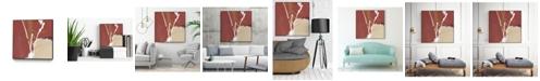 "Giant Art 30"" x 30"" Molecular Dynamics III Art Block Framed Canvas"