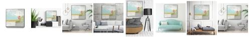 "Giant Art 30"" x 30"" Coastal Quadrant II Art Block Framed Canvas"