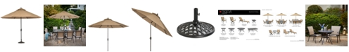 Furniture Beachmont II Outdoor 11' Umbrella with Base, Created for Macy's