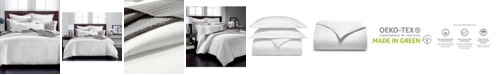 Charter Club CLOSEOUT! Windowpane  2-Pc. Twin Duvet Set, 550-Thread Count Supima Cotton, Created for Macy's