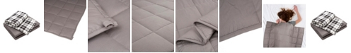 Glitzhome Cotton Shell Quilted Weighted Blanket and Removable Duvet Cover - Twin