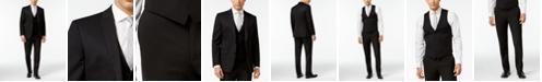 Bar III Black Solid Slim-Fit Suit Separates