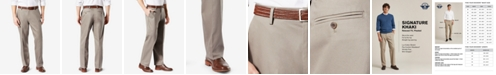 Dockers Men's Signature Lux Cotton Relaxed Fit Pleated Creased Stretch Khaki Pants